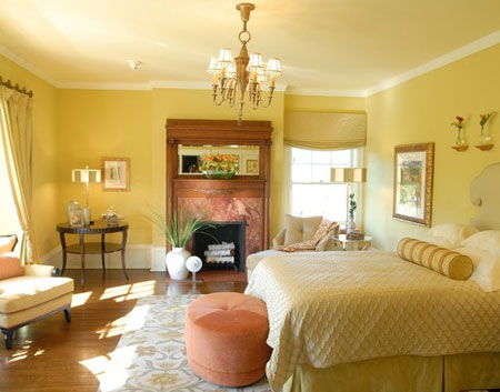 تصاميم غرف نوم لون  اصفر1