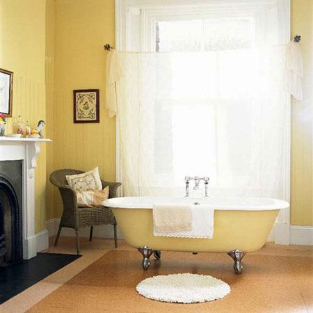 تصاميم حمام باللون الاصفر1