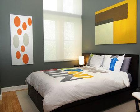 غرف نوم باللون الرمادي الغامق1
