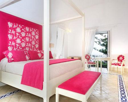 تصاميم غرف نوم لون زهري9