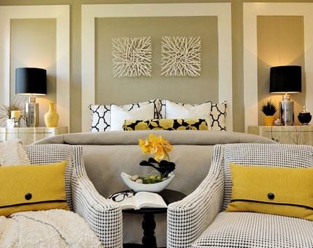 تصاميم غرف نوم لون  اصفر10