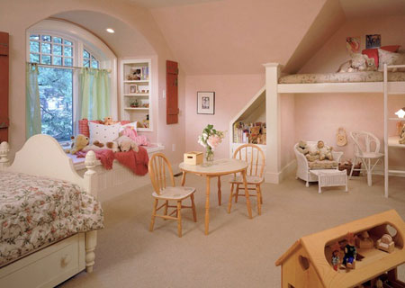 تصاميم غرفة اطفال مع سرير علوي لوفت5