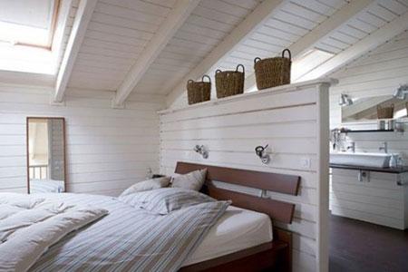 افكار رائعة لاستخدام المساحة خلف السرير8