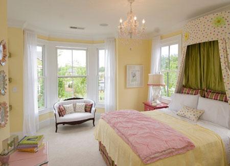 تصاميم غرف نوم لون  اصفر9