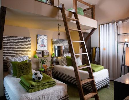 تصاميم غرفة اطفال مع سرير علوي لوفت4