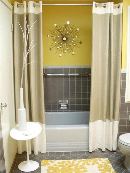 تصاميم حمام باللون الاصفر11