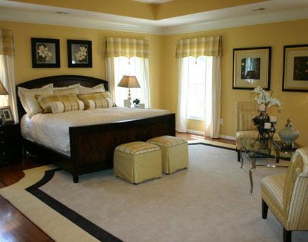 تصاميم غرف نوم لون  اصفر8