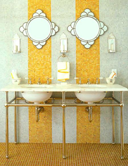 تصاميم حمام باللون الاصفر10
