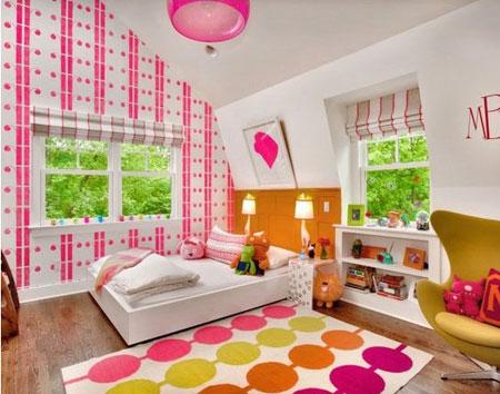 تصاميم غرف نوم لون زهري2