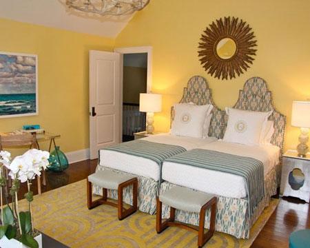 تصاميم غرف نوم لون  اصفر7
