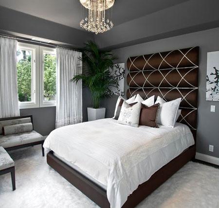 غرف نوم باللون الرمادي الغامق7