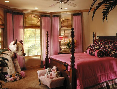 تصاميم غرف نوم لون زهري8