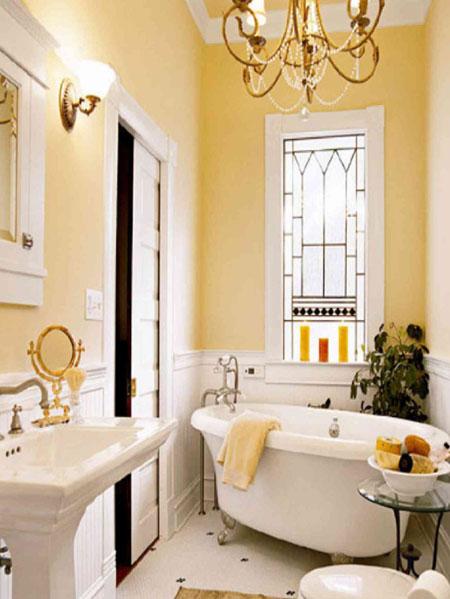 تصاميم حمام باللون الاصفر9