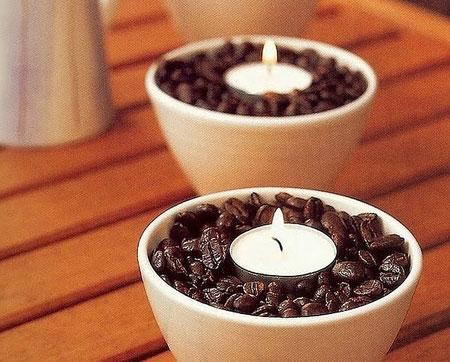 الشموع مع البن