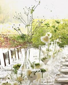افكار لتزيين طاولات حفلات الاعراس