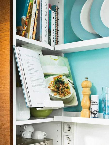 ديكور مطبخ حديث باللون الازرق الفيروزي