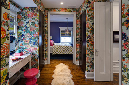 جدران غرفة النوم ازرق موناكو
