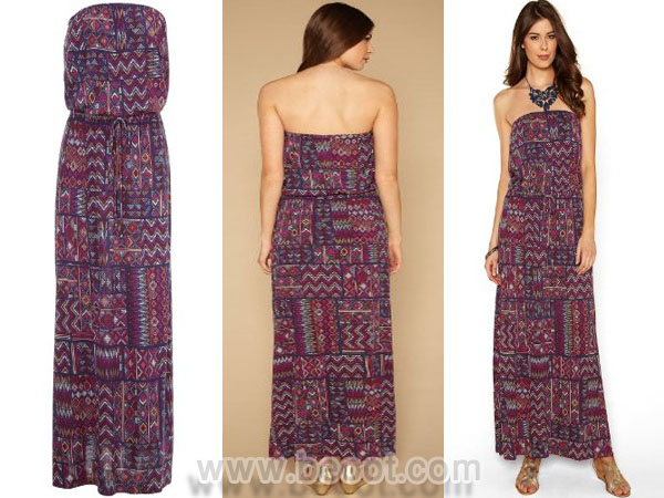 فستان ماكسي ملون جرزي من مونسون