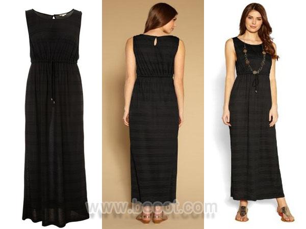 فستان ماكسي اسود كامل من مونسون