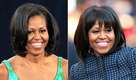 ميشيل اوباما احتفلت بعيد ميلادها 49 بتسريحة بانغ جديدة