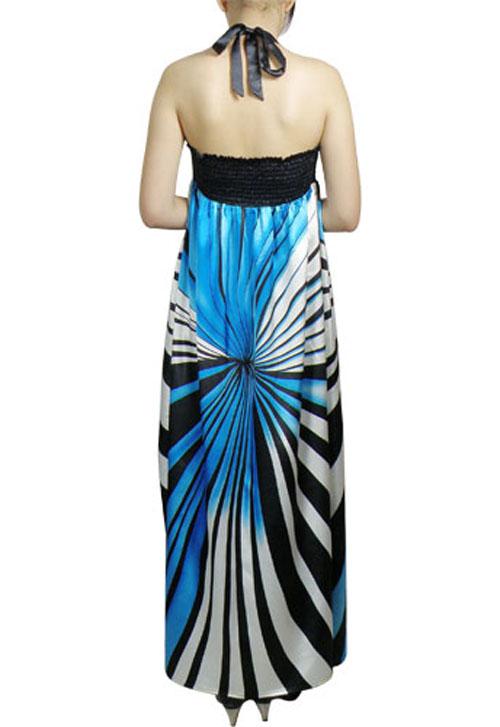 فستان طويل مكسي ملون