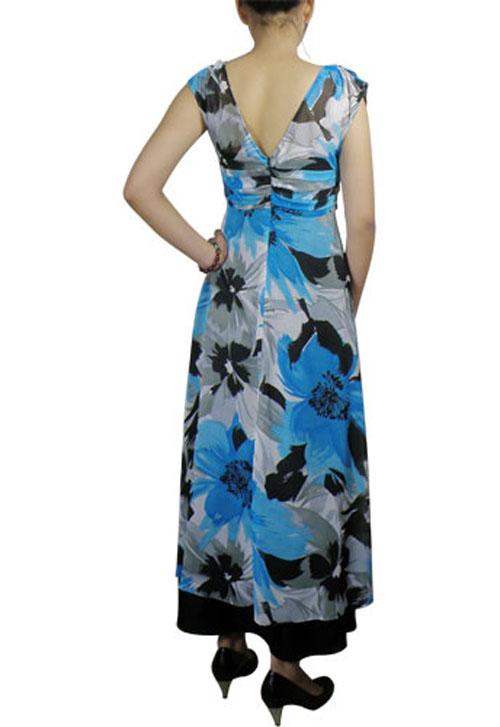 فستان شيفون طويل مكسي ملون