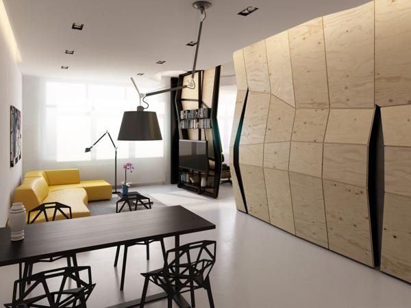 افكار لاعادة تصميم شقة صغيرة جدا بمساحة 60 متر مربع