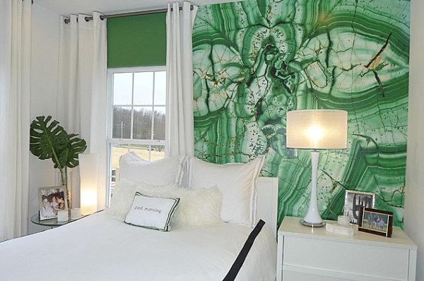 الوان لافتة وجميلة لغرفة نومك لوني غرفة نومك بلون الزمرد