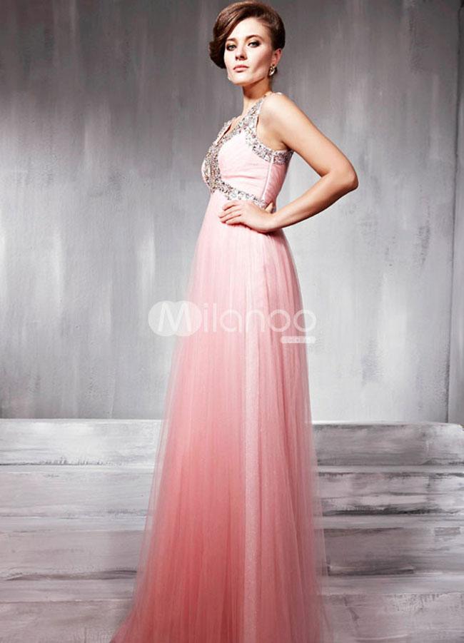 فستان حفلات تخرج لون زهري