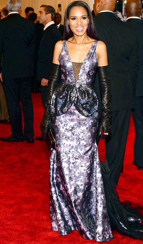 كيري واشنطن,ارتدت فستان حورية البحر من فيرا وانغ