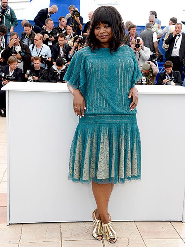 اوكتافيا سبنسر,في فستان من Tadashi Shoji