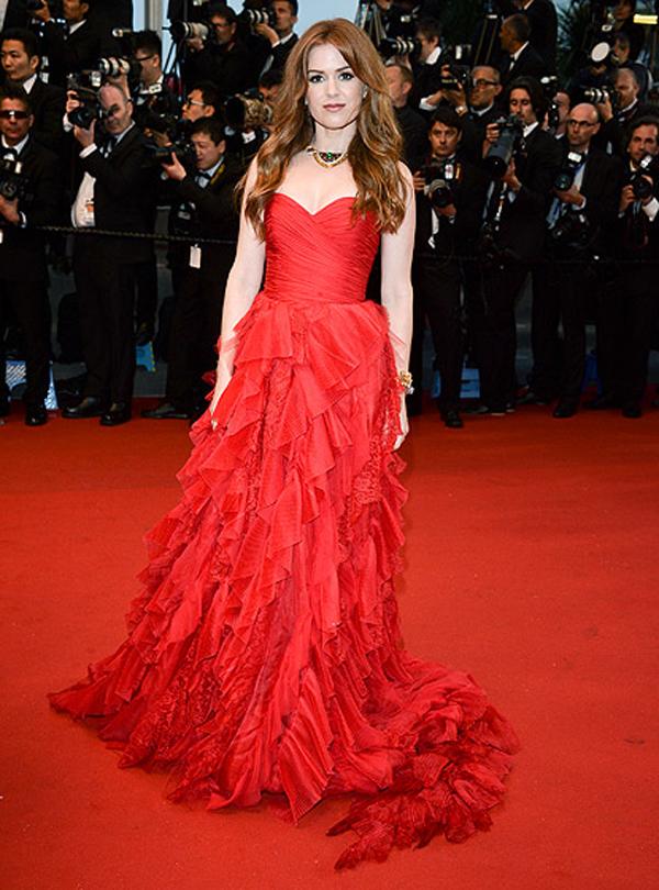 ايسلا فيشر,في فستان من اوسكار دي لارنتا مكشكش