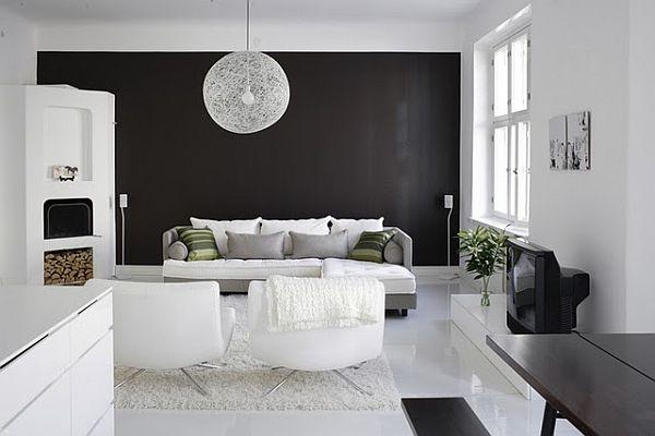 افكار تصميم منزل كامل باللون الاسود