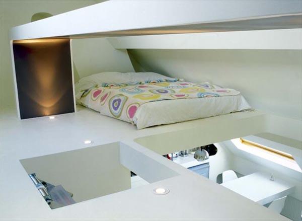 افكار تصاميم غرف نوم مخفية في الشقق ذات المساحات الصغيرة