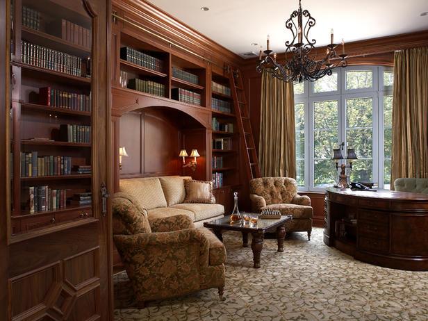 تصاميم مكتبات منزلية مميزة
