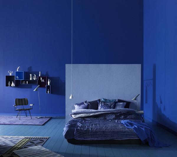 غرف نوم انيقة بدرجات اللون الازرق