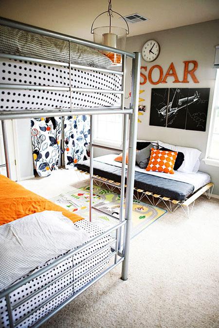 تصاميم غرف نوم اطفال مشتركة ثلاثة اطفال و اكثر